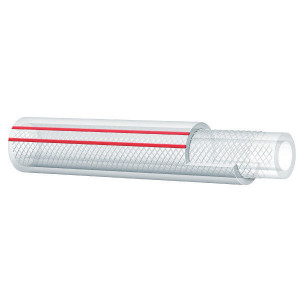 Alfagomma PVC slang, versterkt, 8mm - LS080 | Lange levensduur | Transparant | Textielinlage | 5/16 Inch | 2,5 mm | 15 bar | 45 bar | 95 g/m