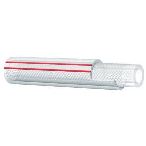 Alfagomma PVC slang, versterkt, 10mm - LS100 | Lange levensduur | Transparant | Textielinlage | 3/8 Inch | 2,5 mm | 15 bar | 45 bar | 110 g/m