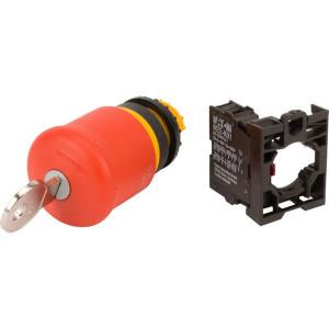 Eaton Drukknop+sleutel Noodstop 1ver - M22PVSK01
