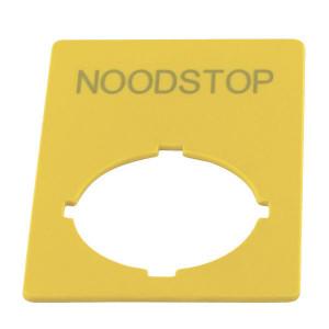 Eaton Label, Noodstop, Nederlands - M22XZKNL