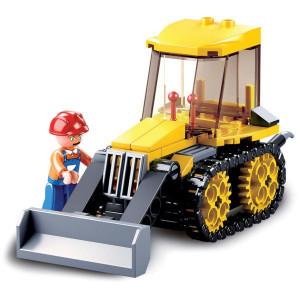 Sluban Kleine bulldozer - M38B0377D | 14.1x19x4.5 cm