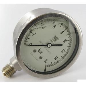 "EMVO Manometer v. sprayer 0-16 bar - MA100016S | Glycerine gevuld | Trillingsdempend | 1/2"" Inch | 0 16 bar | 100 mm"
