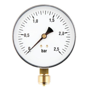 Gasli Manometer Ø 100 0-2,5bar ½ unt - MA100025L08ST | 0 2,5 bar | 100 mm