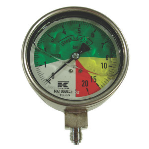 "WIKA Manometer ø100mm 1/4""0-8-20-25 - MA1000825 