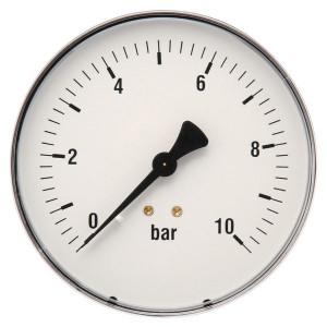 "Gasli Manometer Ø100 0-10bar ½"" acht - MA10010B08STGF | Achter | 0 10 bar | 100 mm"
