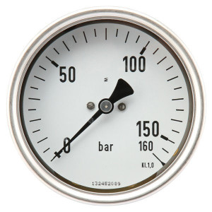 "Manometer Ø100 0-160bar ½"" ach - MA100160B08SSGF | Achter | 0 160 bar | 100 mm"