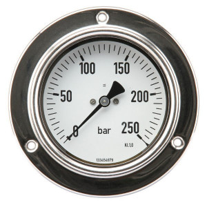 "ET Manom.paneel Ø100 0-250bar ½"" - MA100250P08SSGF 