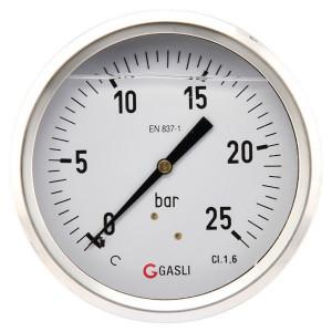 "Manometer Ø100 0-25bar ½"" hint - MA10025B08SSGF | Achter | 0 25 bar | 100 mm"