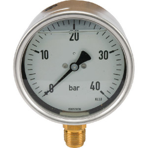 "EMVO Manometer Ø100 0-40bar ½"" onder - MA10040L08SSGF | 0 40 bar | 100 mm"