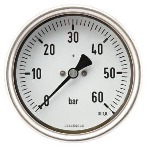 "Manometer Ø100 0-60bar ½"" ac - MA10060B08SSGF | Achter | 0 60 bar | 100 mm"