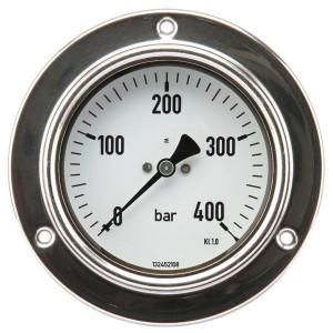 "Gasli Manom.paneel Ø100 0-60bar ½"" - MA10060P08SS | Behuizing roestvast staal | paneelbouw | 0 60 bar | 100 mm"