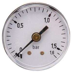"Gasli Manometer Ø40 0-1,6bar ⅛"" achter - MA40016B02ST | Achter | 0 1,6 bar | 40 mm"