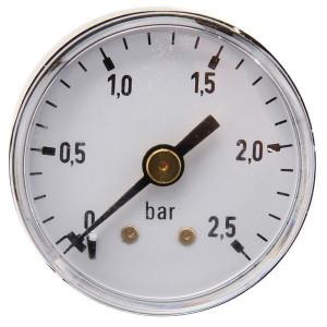 "Gasli Manometer Ø40 0-2,5bar ⅛"" achter - MA40025B02ST | Achter | 0 2,5 bar | 40 mm"