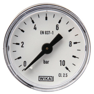 WIKA Manom.achter Ø40mm 0-10bar - MA4010B02PL | Achter | 0 10 bar | 40 mm