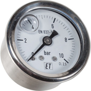 "Manometer Ø40 0-10bar ⅛"" achte - MA4010B02SSGF 