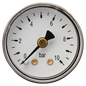 "Gasli Manometer Ø40 0-10bar ⅛"" achter - MA4010B02ST | Achter | 0 10 bar | 40 mm"