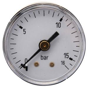 "Gasli Manometer Ø40 0-16bar ⅛"" achter - MA4016B02ST | Achter | 0 16 bar | 40 mm"