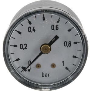 "Gasli Manometer Ø40 0-1bar ⅛"" achter - MA401B02ST | Achter | 0 1 bar | 40 mm"