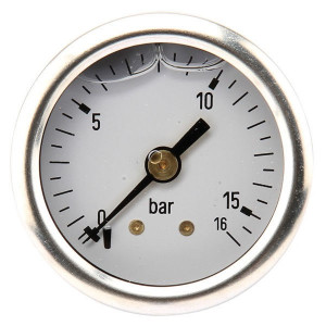 Manometer ø 40 0-250 bar 1/8 - MA40250B02SSGF | Achter | 0-250 bar | 40 mm