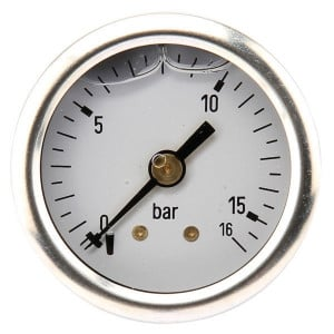 Manometer ø 40 0-25 bar 1/8 - MA4025B02SSGF | Achter | 0-25 bar | 40 mm