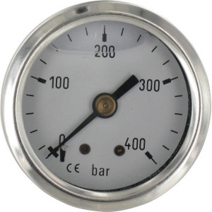 "Manometer Ø40 0-400bar ⅛"" acht - MA40400B02SSGF 