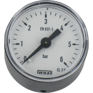 WIKA Manom.achter Ø40mm 0-6bar - MA406B02PL | Achter | 0 6 bar | 40 mm