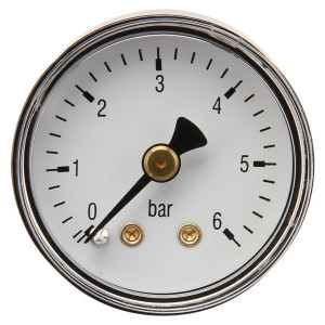 "Gasli Manometer Ø40 0-6bar ⅛"" achter - MA406B02ST | Achter | 0 6 bar | 40 mm"