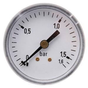 "Gasli Manometer Ø50 0-1,6bar 1/4"" acht - MA50016B04ST | Achter | 0 1,6 bar | 50 mm"