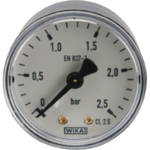 WIKA Manom.aansl. a. ø50 0-2,5bar - MA50025B04PL | Achter | 0 2.5 bar | 50 mm