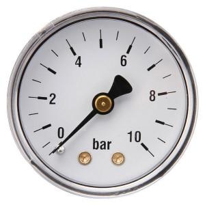 "Gasli Manometer Ø50 0-10bar 1/4"" acht - MA5010B04ST | Achter | 0 10 bar | 50 mm"