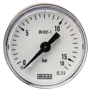 WIKA Manom.aansl. a. ø50 0-16bar - MA5016B04PL | Achter | 0 16 bar | 50 mm