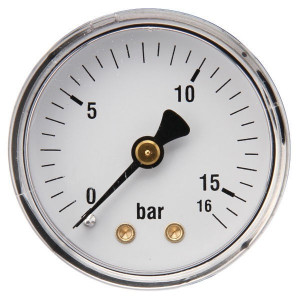 "Gasli Manometer Ø50 0-16bar 1/4"" acht - MA5016B04ST | Achter | 0 16 bar | 50 mm"
