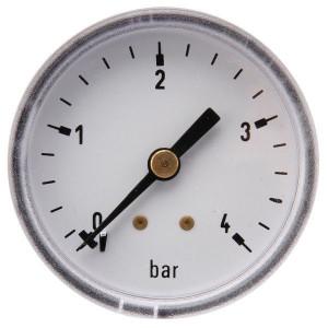 "Gasli Manometer Ø50 0-4bar 1/4"" acht - MA504B04ST | Achter | 0 4 bar | 50 mm"