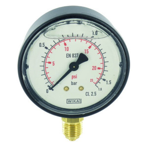 "WIKA Manometer Ø63 0-1,6bar ¼"" onde - MA63016L04PLGF 