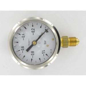 EMVO Vacuummeter rond 63 -1-0. - MA6301VAC | Glycerine gevuld | Trillingsdempend | KKlasse 1,6 | -1 0 bar | -20 / +80 °C °C | 63 mm