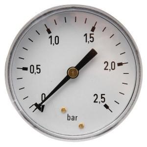 "Gasli Manometer Ø63 0-2,5bar ¼ "" ach - MA63025B04ST | Achter | 0 2,5 bar | 63 mm"