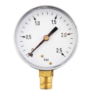 "Gasli Manometer Ø63 0-2,5bar ¼"" onde - MA63025L04ST 