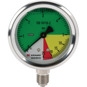 "WIKA Manometer 63 1/4""ond.AHL-vast - MA630525 