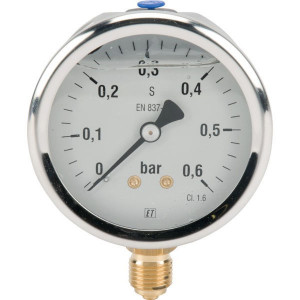 "Manometer Ø63 0-0,6bar ¼"" onde - MA6306L04SSGF 