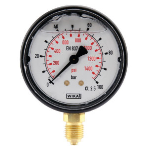 "WIKA Manometer Ø63 0-100bar ¼"" onde - MA63100L04PLGF 