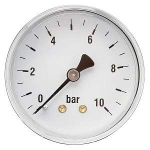 "Gasli Manometer Ø63 0-10bar ¼"" acht - MA6310B04ST | Achter | 0 10 bar | 63 mm"