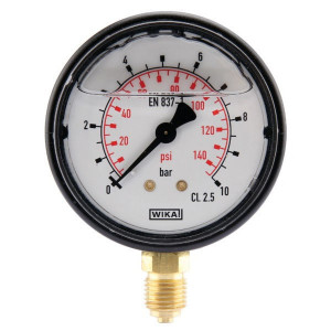 "WIKA Manometer Ø63 0-10bar ¼"" onder - MA6310L04PLGF 