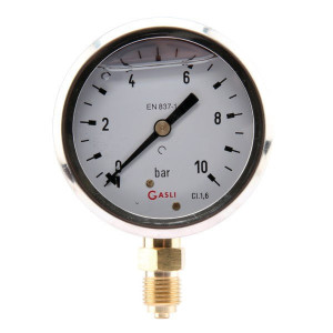 "Manometer Ø63 0-10bar ¼"" onder - MA6310L04SSGF 