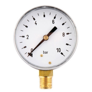 "Gasli Manometer Ø63 0-10bar ¼"" onder - MA6310L04ST 