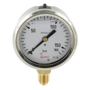 "Manometer Ø63 0-160bar ¼"" onde - MA63160L04SSGF 