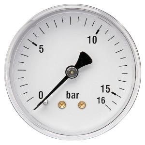 "Gasli Manometer Ø63 0-16bar ¼"" achte - MA6316B04ST | Achter | 0 16 bar | 63 mm"