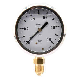 "Manometer Ø63 0-1bar ¼"" onder - MA631L04SSGF 