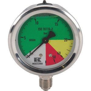 "WIKA Manometer ø63mm 1/4"" 20-60 - MA632060 