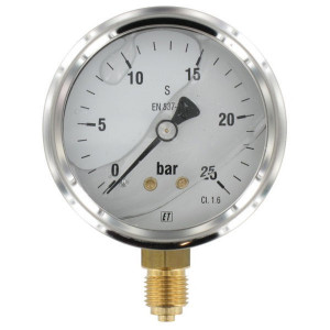 "Manometer Ø63 0-25bar ¼"" onder - MA6325L04SSGF 