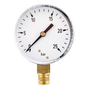 "Gasli Manometer Ø63 0-25bar ¼"" onder - MA6325L04ST 